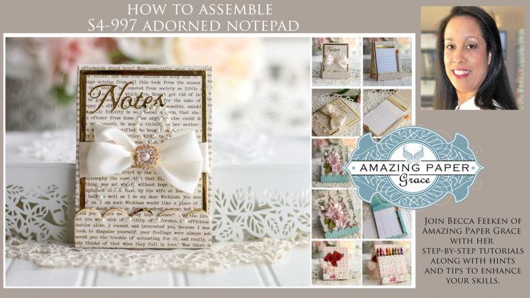 How to Assemble S4-997 Adorned Notepad