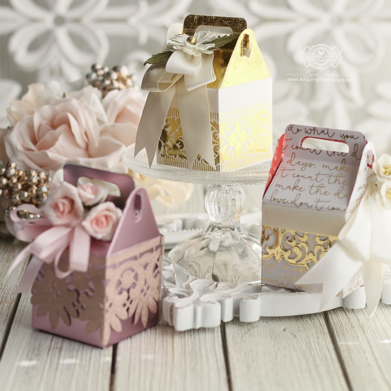 Christmas Dies that double for everyday use - Gift Making Ideas by Becca Feeken with The Charming Cottage Box - see full supply list and links at www.amazingpapergrace.com/?p=34967