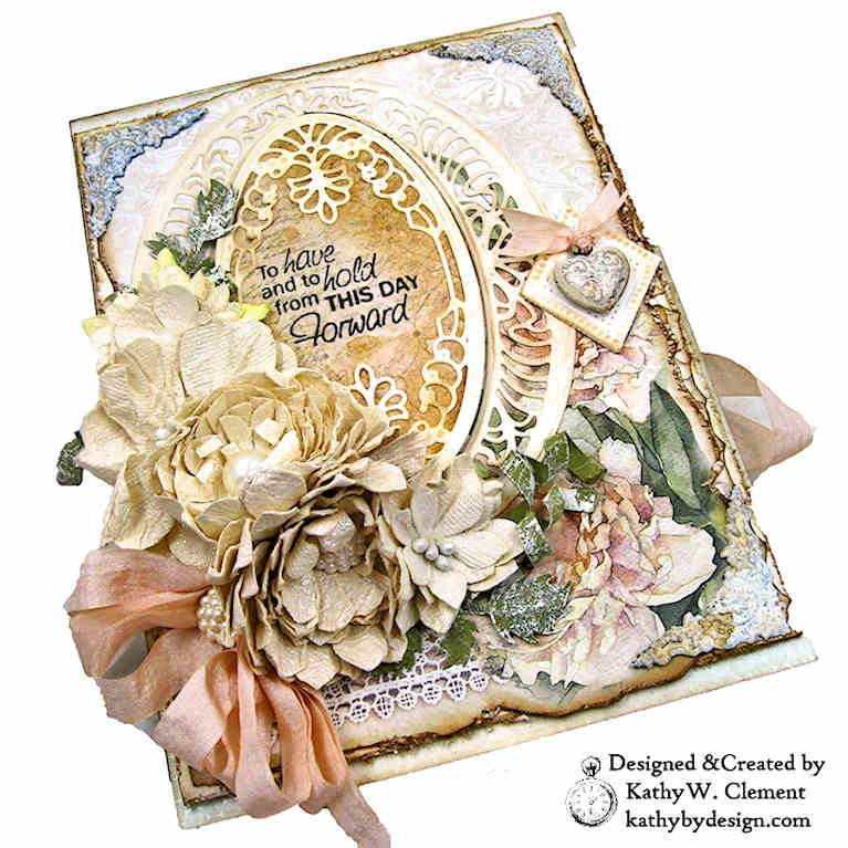 Guest Designer Kathy Clement Project for Amazing Paper Grace using Spellbinders Vintage Treasures Collection - see full post at www.amazingpapergrace.com/?p=35008