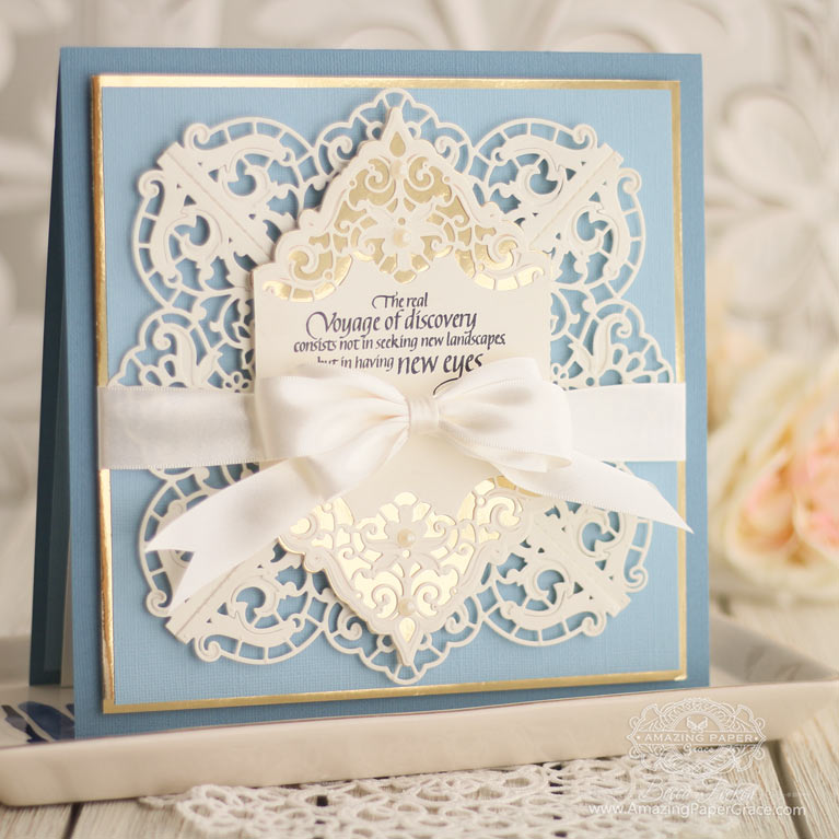 Amazing Paper Grace Die of the Month for June 2019 - Enchanting Batterburg Corners Die Set - Card Making Ideas by Becca Feeken using this Spellbinders Die can be found at www.amazingpapergrace.com/?p= 35067