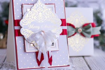 Amazing Paper Grace 3D Holiday Vignettes and Glimmer - Christmas Damask Jubilee by Spellbinders - learn about this die at www.amazingpapergrac