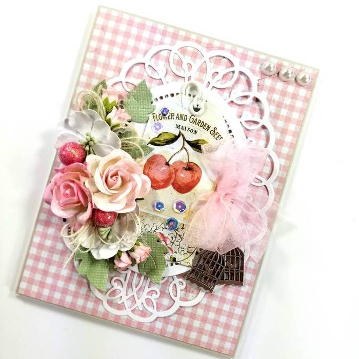 Ginny Nemchak created this beauty as a Guest Designer for Amazing Paper Grace using Sweetheart Swirl by Becca Feeken for Spellbinders