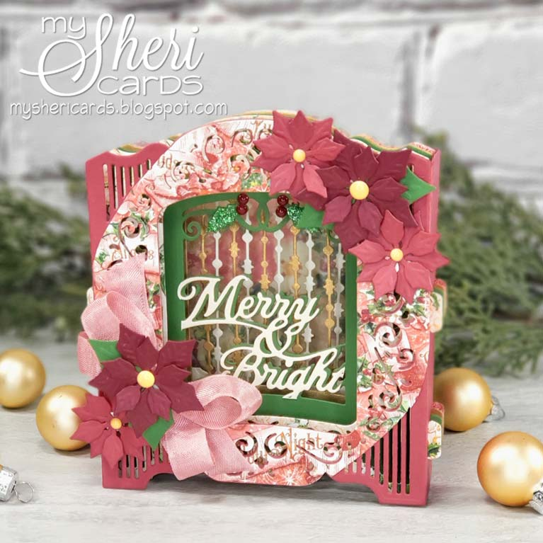 Sheri Holt created this beauty as September 2019  Guest Designer for Amazing Paper Grace using The Grand Holiday Cabinet by Becca Feeken for Spellbinders