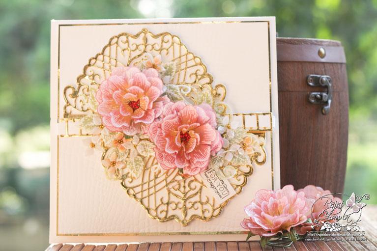 Amazing Paper Grace Guest Designer Rajni Chawla shares a beautiful card using S4-1018 Candlewick Petticoat - see full post at www.amazingpapergrace.com/?p=35433