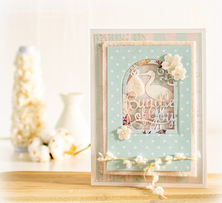 Amazing Paper Grace Guest Designer Henriette van Mierlo shares a beautiful card using S4-852  Layered Bundle of Joy - see full post at www.amazingpapergrace.com/?p=35525