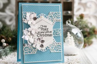 Amazing Paper Grace November 2019 Die of the Month - Winters Solstice Snowflake - learn about this die at www.amazingpapergrace.com/?p=35552