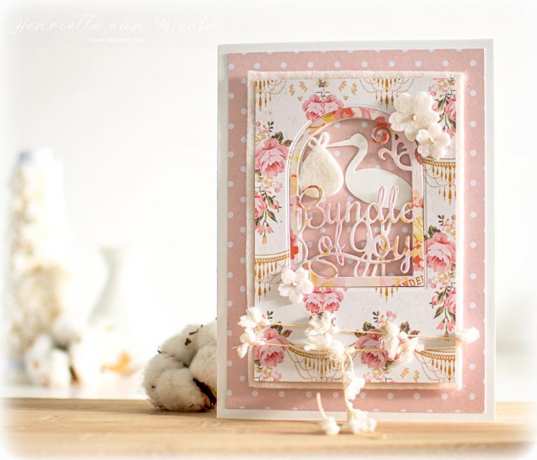 Amazing Paper Grace Guest Designer Henriette van MIerlo shares a beautiful card using S4-852 Layered Bundle of Joy - see full post at www.amazingpapergrace.com/?p=35576