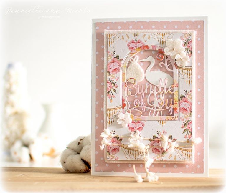 Amazing Paper Grace Guest Designer Henriette van MIerlo shares a beautiful card using S4-852 Layered Bundle of Joy - see full post at www.amazingpapergrace.com/?p=35576