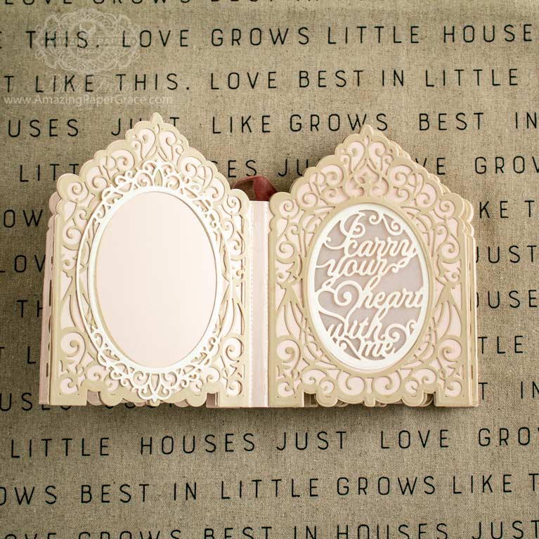 Amazing Paper Grace 3D Vignette Mini-Album Kit - I carry your heart - see details at www.amazingpapergrace.com/?p=35652