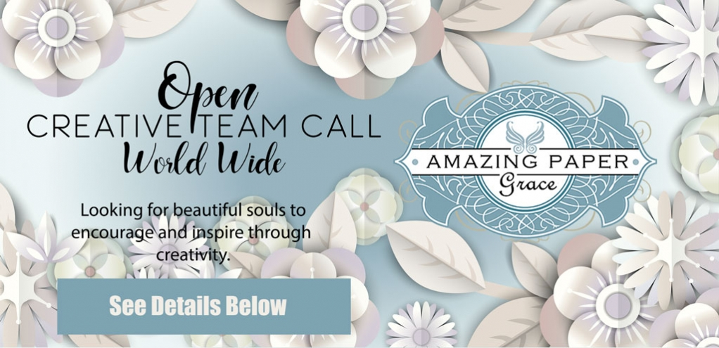 Amazing Paper Grace Creative Team Open Call
