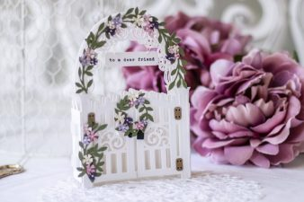 Amazing Paper Grace May 2021 Die of the Month - Mini 3D Vignette Garden Gate - detailed information at www.amazingpapergrace.com/?p=37098