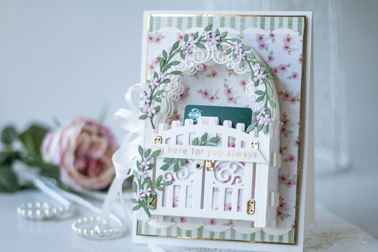 Amazing Paper Grace May 2021 Die of the Month - Mini 3D Vignette Garden Gate - detailed information at www.amazingpapergrace.com/?p=37147