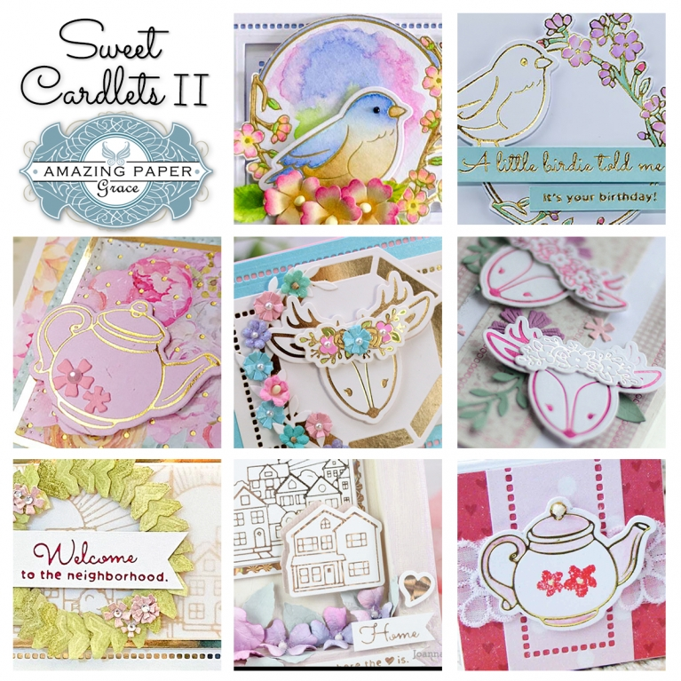 Introducing Amazing Paper Grace Collection - Sweet Cardlets II - more details at www.amazingpapergrace.com/?p=37171