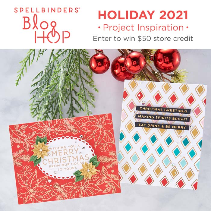 www.amazingpapergrace.com Holiday Offerings during the Spellbinders Holiday 2021 Blog Hop